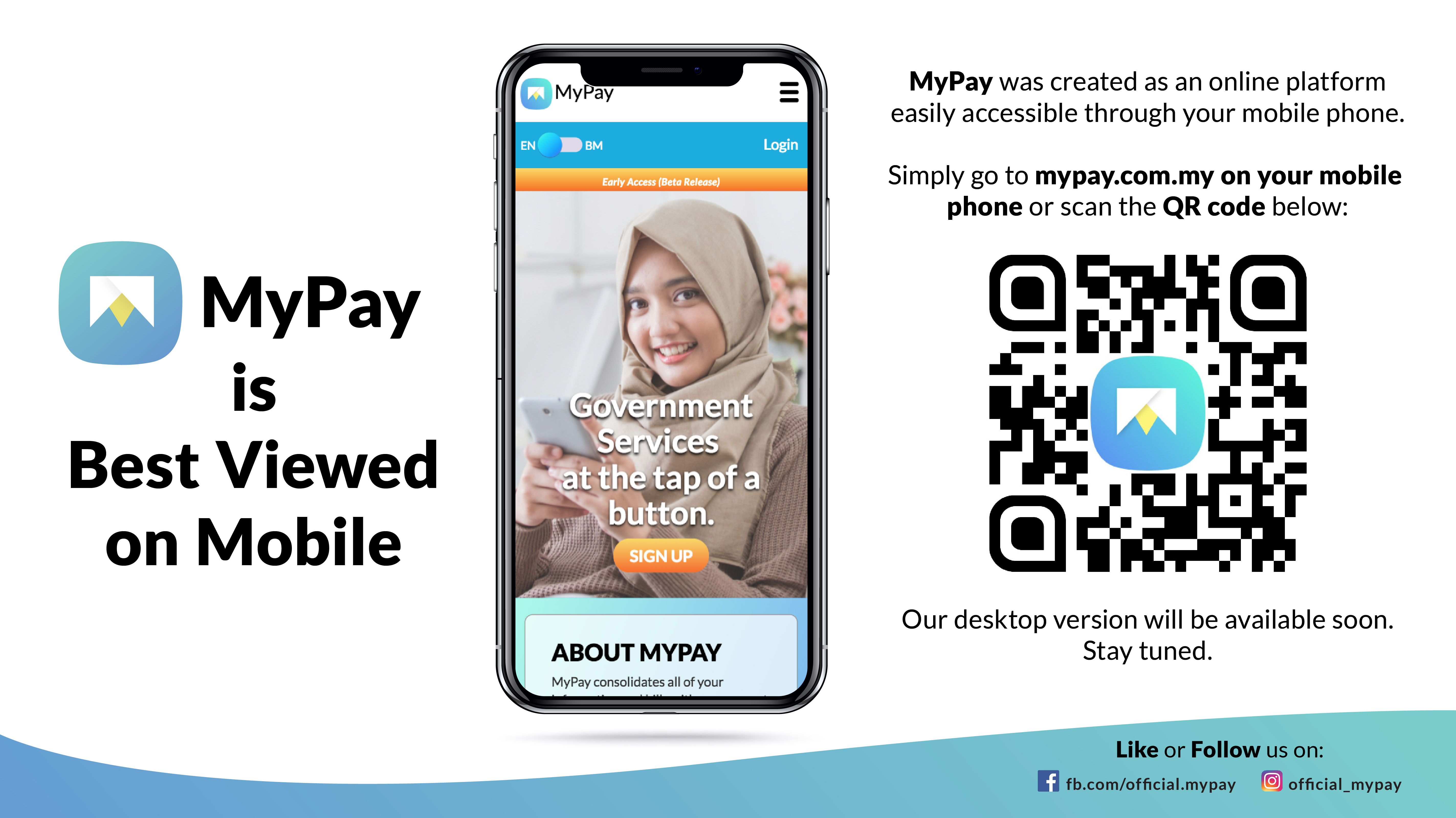 MyPay consolidates all of your bills with government agencies online, making payments easier and manageable